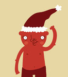De grappige Kerstman draagt Stock Afbeelding