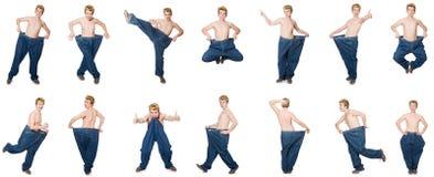 De grappige man met broeken Royalty-vrije Stock Fotografie