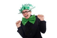 De grappige man met mohawkkapsel Stock Afbeelding