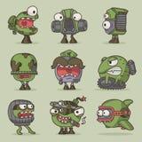 De grappige monsters van het beeldverhaalspel Royalty-vrije Stock Foto