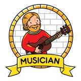 De grappige musicus of gitaristreeks van Profession ABC royalty-vrije illustratie