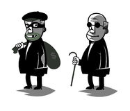 De grappige politicus, plaatste illustratie twee vector illustratie