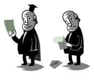 De grappige politicus, plaatste twee vectorillustratie stock illustratie