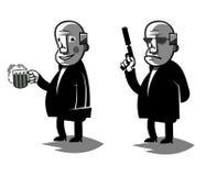 De grappige politicus, plaatste twee vectorillustratie royalty-vrije illustratie