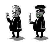 De grappige politicus, plaatste twee vectorillustratie vector illustratie