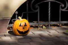 De grappige pompoen van Halloween Stock Foto's