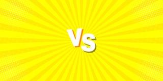De grappige pop-artachtergrond is de snelheid van de lijn van halftone punten met hoogte - kwaliteit aan gele kleur VERSUS beeld, stock illustratie