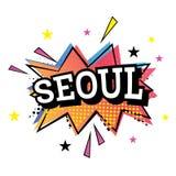 De Grappige Tekst van Seoel in Pop Art Style Royalty-vrije Stock Afbeelding