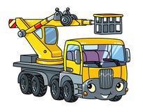 De grappige telescopische auto of de vrachtwagen van de boomlift Royalty-vrije Illustratie