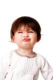 De grappige uitdrukking van de babypeuter Royalty-vrije Stock Afbeeldingen