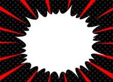 De grappige van het superheropop-art van de boekexplosie achtergrond van de stijl radiale lijnen Manga of anime snelheidskader stock illustratie