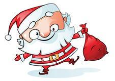 De grappige vector van de Kerstman Stock Afbeeldingen