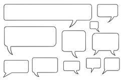 De grappige Vectorbellen Set03 van de Toespraaktekst Stock Afbeeldingen