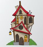 De grappige vectorillustratie van het huisbeeldverhaal Stock Afbeeldingen