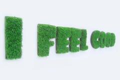 De grassen die in het woord van ik groeien voelen goed stock afbeelding