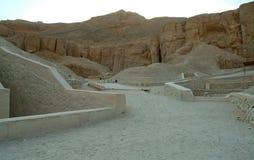 De Graven in de vallei van de koningen zonder mensen, Thebes, Unesco-de Plaats van de Werelderfenis, Egypte stock foto's