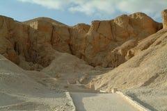 De Graven in de vallei van de koningen zonder mensen, Thebes, Unesco-de Plaats van de Werelderfenis, Egypte stock foto