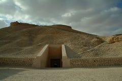 De Graven in de vallei van de koningen zonder mensen, Thebes, Unesco-de Plaats van de Werelderfenis, Egypte stock afbeeldingen