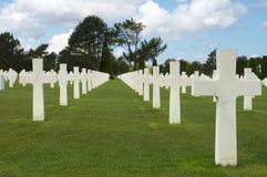 De graven van de D-dag stock afbeelding