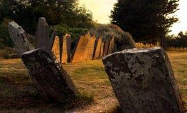 De graven van de zonsondergang royalty-vrije stock foto