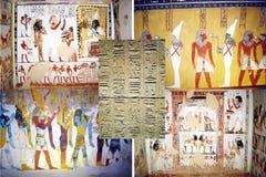 De graven van Egypte stock foto