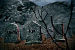 De graven van Halloween Stock Foto's