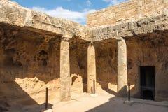 De Graven van de Koningen in Pahos Cyprus royalty-vrije stock fotografie