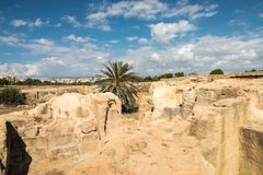 De Graven van de Koningen in Pahos Cyprus royalty-vrije stock afbeeldingen