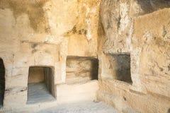De Graven van de Koningen in Pahos Cyprus stock afbeeldingen