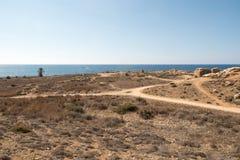 De Graven van de Koningen in Pahos Cyprus stock afbeelding