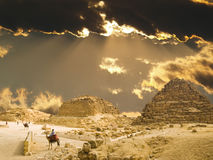 De graven van koningin Hetepheres' in Giza Royalty-vrije Stock Fotografie