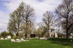 De graven van Pittsburgh, Pennsylvania, de V.S. 04/18/2019 in de Homewood-Begraafplaats stock afbeelding