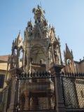 De graven van Scaligeri in Verona stock foto's