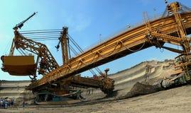De graver van de steenkool in actie Stock Foto