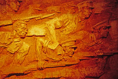De gravure van de muur Royalty-vrije Stock Foto