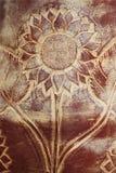 De gravure van de Ornatedzonnebloem royalty-vrije stock foto