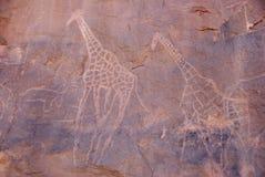 De gravure van de rots, Libië Royalty-vrije Stock Foto's