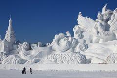 De Gravure van de sneeuw Stock Foto