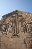 De Gravure van de steen. De Kerk van Ananuri. Georgië Royalty-vrije Stock Foto