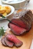 De gravure van het braadstukrundvlees royalty-vrije stock afbeelding
