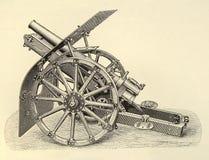 De gravure van het kanon Stock Afbeelding