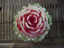 De gravure van het watermeloenfruit Stock Afbeelding