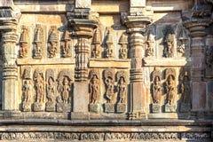 De gravures van de Andaltempel, Belur, India Royalty-vrije Stock Fotografie