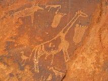 De gravures van de rots royalty-vrije stock foto