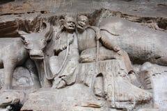 De Gravures van de Rots van de Berg van Bao Ding van Dazu Royalty-vrije Stock Foto