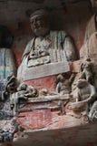 De Gravures van de Rots van de Berg van Bao Ding van Dazu Stock Fotografie