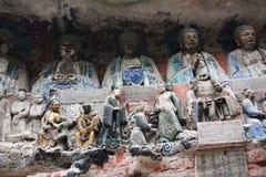 De Gravures van de Rots van de Berg van Bao Ding van Dazu Royalty-vrije Stock Foto's