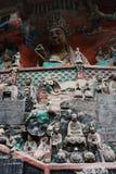 De Gravures van de Rots van de Berg van Bao Ding van Dazu Royalty-vrije Stock Afbeeldingen