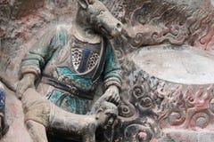 De Gravures van de Rots van de Berg van Bao Ding van Dazu Stock Foto