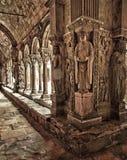De Gravures van het Klooster van heilige Trophime Stock Fotografie